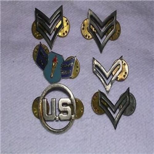 6 U.S. Military Lapel Pins, Hat Pins, or Tie Tacs #74Other Militaria - 135