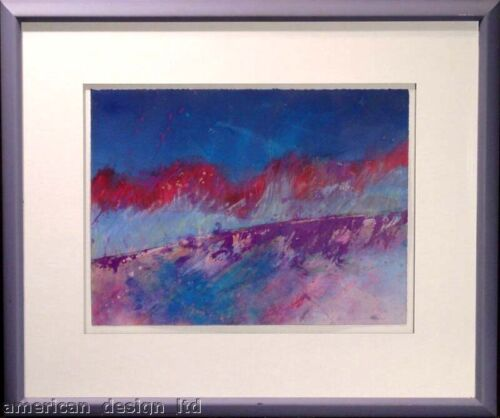 Mark Dickson Original Pastel Drawing framed signed abstract art MAKE AN OFFER!