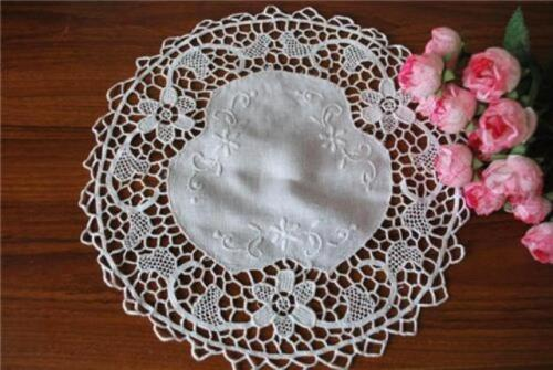 Needlepoint Lace N Hand Embroidery Doily 28cm Round