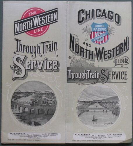 """FERROVIA. Nord America.""""Chicago and North-Western"""" 1893"""