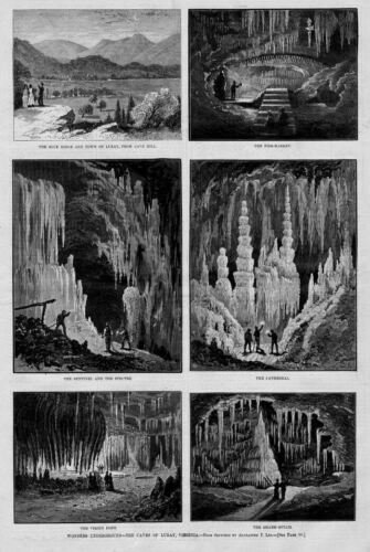 CAVE WONDERS UNDERGROUND CAVES OF LURAY THE CATHEDRAL 1879 VIRGINIA HISTORY