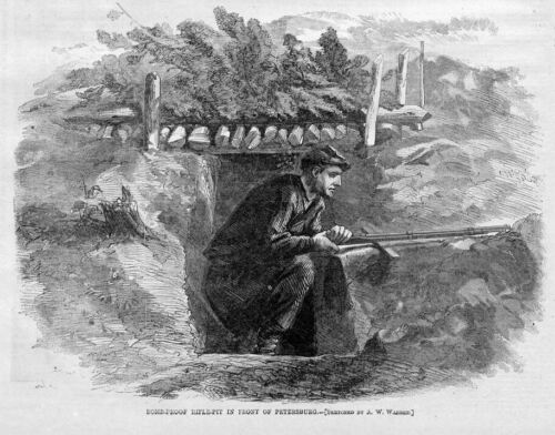 BOMB-PROOF RIFLE-PIT, CIVIL WAR SOLDIER AND HIS RIFLEPosters & Prints - 156382