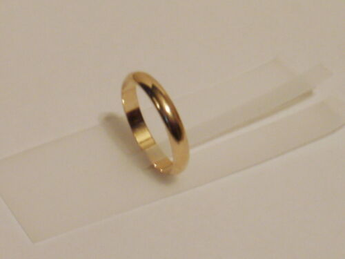 14K Yellow Gold plated 3MM  Wedding band ring USA made lifetime warranty 2-13