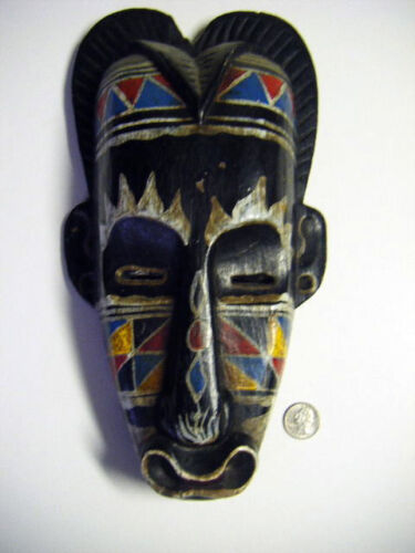antique african mask handcolored absolutely killer LOOK