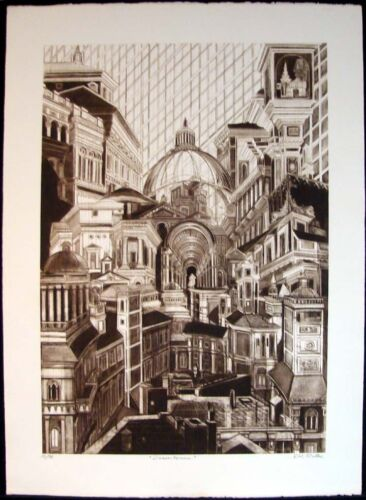 G H Rothe Downtown Hand Signed Ltd Ed Original Mezzotint Artwork SUBMIT AN OFFER