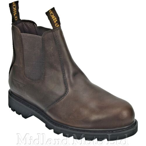 WoodWorld Safety Dealer Boots Brown Goodyear Welted Steel Toe Cap WWD1-P