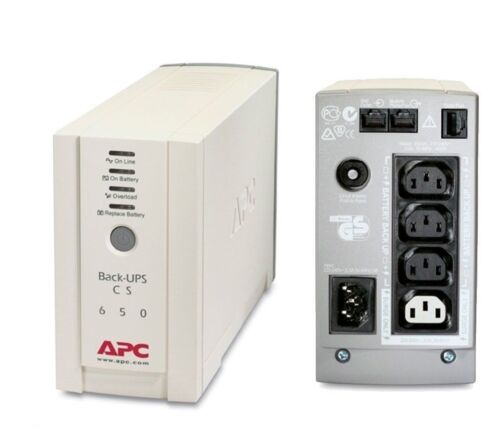 APC BK650-AS Back-UPS CS 650VA 400W UPS TOWER 2 YRS