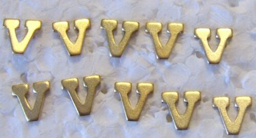 """MILITARY MEDAL RIBBON ATTACHMENT LETTER """"V"""" FOR VALOUR PACK OF 10 DEVICESOther Militaria - 135"""