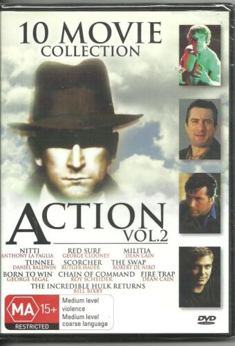 ACTION - VOL 2 -10 MOVIE COLLECTION - on 4  DVD's