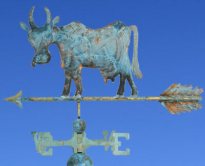 "COPPER "" SILLY COW"" WEATHERVANE W/DIRECTIONALS 040G"