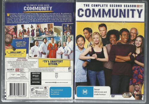 COMMUNITY COMPLETE SECOND SEASON 24 EPISODES CHEVY CHASE GREAT  NEW 4 DVD SET