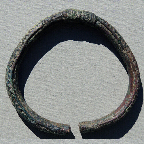 an ancient ornate copper african bracelet mali #37