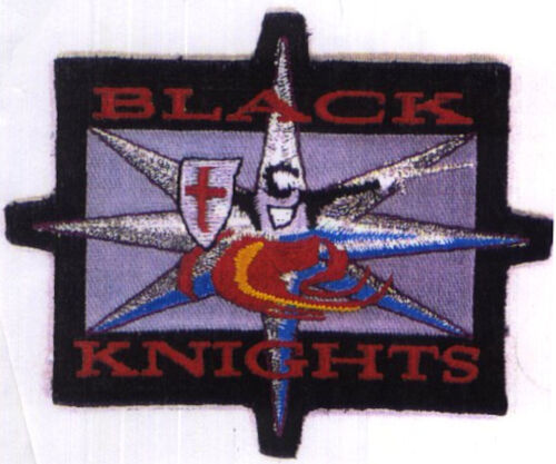 Babylon 5 Embroidered Black Knights Squadron Iron-on Patch