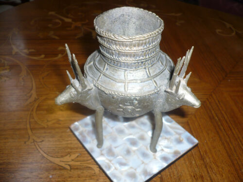 Metal Relic 3 Legged Vessel. Ancient Aliens? Colombians Aztec Mayan Chinese Ding