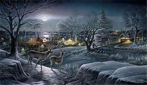 Hometown By Terry Redlin Deer Print Signed and Numbered With Certificate