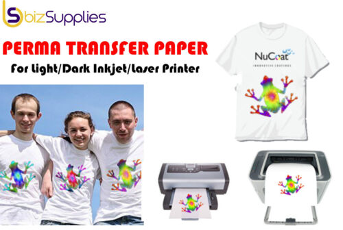 Heat Transfer Paper Iron on Transfer Paper Inkjet Laser Printer T-Shirt Printing <br/> Imported from USA - Top Qlt - Strong Coating - Easy Use