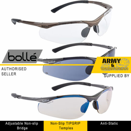 BOLLE Contour Safety Specs Spectacles Sun Glasses PPE Work Wear With FREE Bag