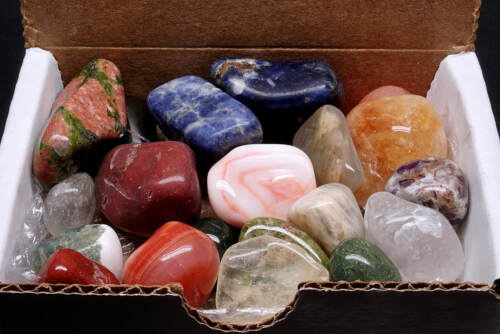Tumbled Stone Collection 1/2 lb Polished Mineral Mix Natural Colors