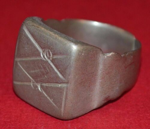Medium Antique Tuareg Ethnic Coin Silver Ring From Niger Africa, Ring Size 7 1/2