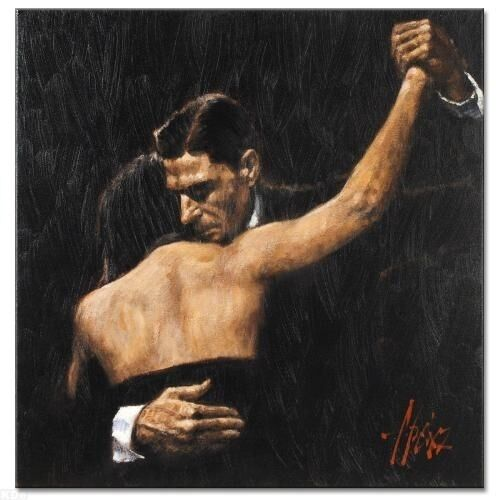 """Fabian Perez      """"'Face of Tango""""     on Canvas    MAKE  OFFER"""