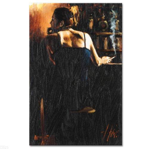 """Fabian Perez      """"Waiting For A Drink""""    MAKE  OFFER"""