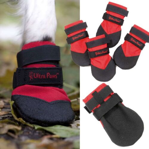 DOG BOOTS DURABLE All Weather Repellent ULTRA PAWS Snow Ice Mud Wood Floor SIZES
