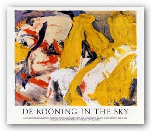 In the Sky by Willem De Kooning Abstract Art Print