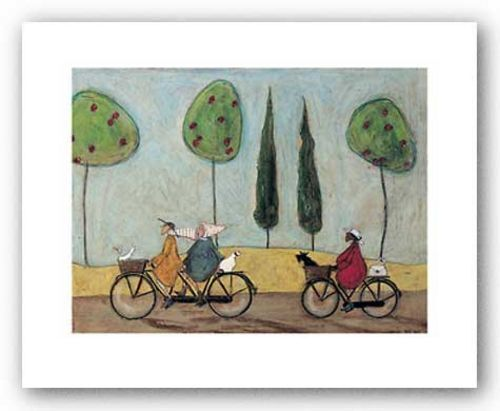 DOG ART PRINT A Nice Day For It Sam Toft