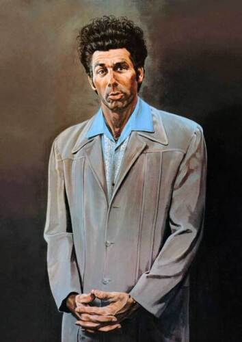 """Seinfeld The Kramer Painting - QUALITY CANVAS Print Poster-  Size - 18x12"""""""