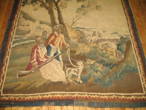Antique French Tapestry 18th Century Size 5'4''x6'9''