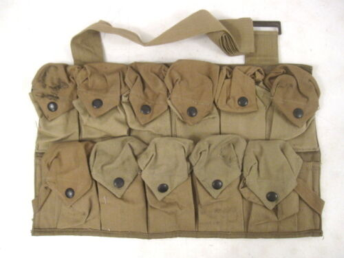 WWI Era AEF US Army VB Grenade Bandolier Chest Pouch Vest Dated 1918 - UnissuedPersonal, Field Gear - 13974