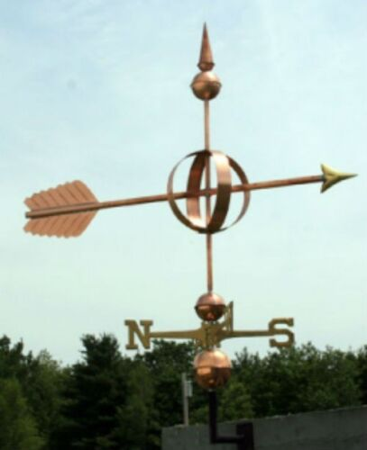 """LARGE 48"""" COPPER """"FANCY ARROW """" WEATHERVANE  MADE IN USA #119"""