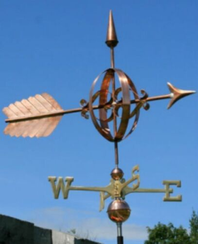"""LARGE COPPER """"FANCY ARROW """" WEATHERVANE  MADE IN USA #124"""