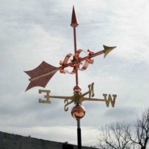 """COPPER LARGE  """"FANCY ARROW """" WEATHERVANE  MADE IN USA #372"""