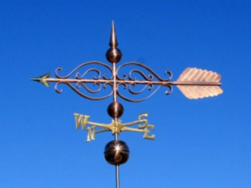 """COPPER LARGE 48""""  """"FANCY  ARROW """" WEATHERVANE  MADE IN USA #431"""
