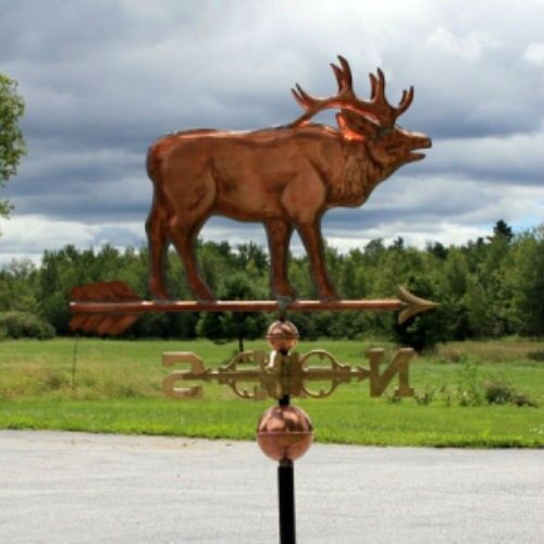 """COPPER   """" LARGE STANDING ELK """" WEATHERVANE  MADE IN USA #177S"""