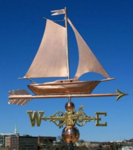"""COPPER   """" FANCY SAILBOAT """" WEATHERVANE  MADE IN USA #470S"""