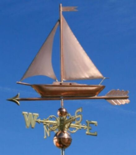 """COPPER   """" FANCY SAILBOAT """" WEATHERVANE  MADE IN USA #473S"""