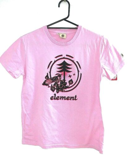 Womens Element Mystique Pink Surf T-Shirt / Tee - Size 8 - 14. NWT. RRP $39.99.