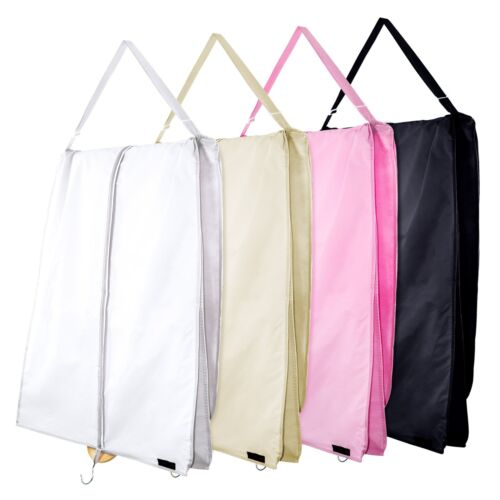 """Hangerworld™ 72"""" Large Zip Dress Carry Cover Wedding Prom Garment Storage Bags <br/> Dresses Held Securely by Draping over Internal Bar"""