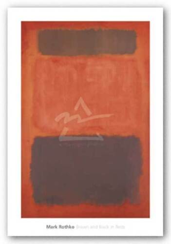 ART PRINT Brown and Black in Reds 1957 Mark Rothko
