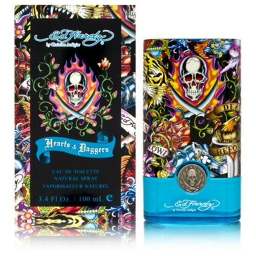 Ed Hardy Hearts & Daggers 3.4 oz edt Cologne Spray for Men New in Box