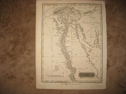 SUPERB ANTIQUE 1820 EGYPT THOMAS KELLY MAP MIDDLE EAST SELINA DESERT ARABIA SUEZ