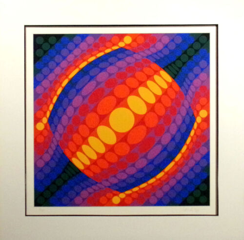 """Victor Vasarely """"Planeta"""" Hand Signed Limited Edition Serigraph Op-Art 1972 OBO!"""