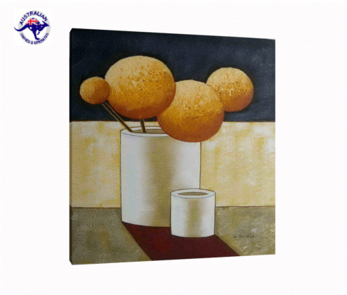 LARGE CANVAS WALL ART POPPIES OIL PAINTING STILL LIFE HAND PAINTED  (NOT FRAMED)