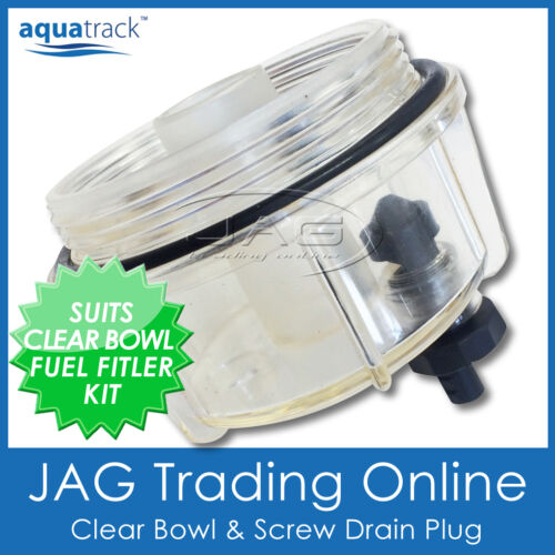 S2313 MARINE WATER SEPARATOR FUEL FILTER KIT with CLEAR BOWL TRAP//DRAIN for Boat