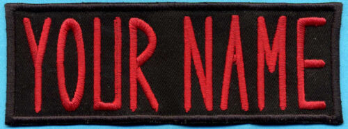 """Custom Ghostbusters 1 Name Tag  Patch with a male/HOOK backing  -  """"YOUR NAME"""""""