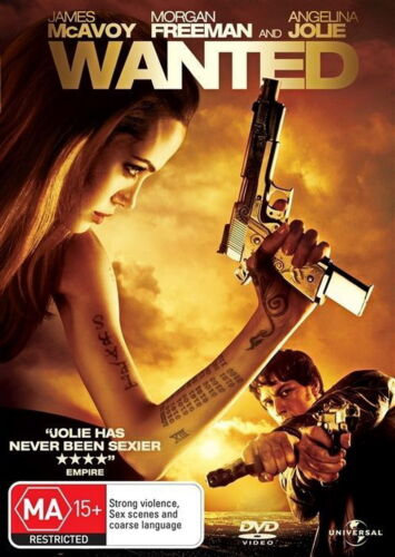 Wanted - Action/ Violence/ Thriller / Fantasy - Angelina Jolie - NEW DVD