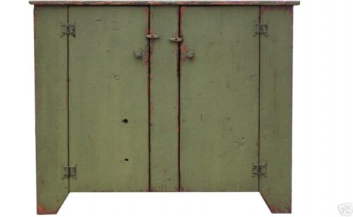 JELLY CUPBOARD CABINET PRIMITIVE COUNTRY PAINTED EARLY AMERICAN RUSTIC PINE
