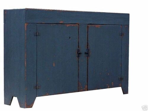 COUNTRY PRIMITIVE PAINTED COLONIAL RUSTIC FARMHOUSE DRY SINK CABINET CUPBOARD